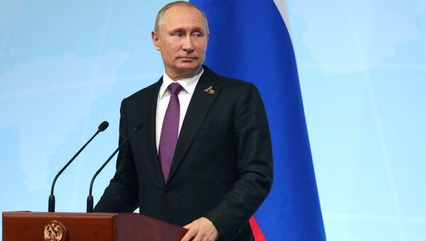 Пресс-конференция Владимира Путина в рамках саммита G20 в Гамбурге