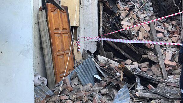На месте обрушения жилого дома в Центральном районе Сочи. 10 июля 2017
