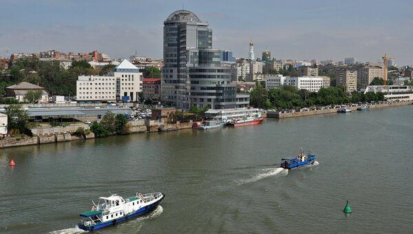 Вид на бизнес-центр Риверсайд-Дон на берегу реки Дон в городе Ростове-на-Дону. Архивное фото.