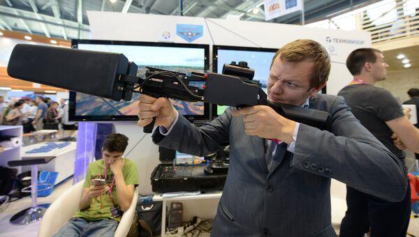 Противодроновый комплекс Заслон в экспозиции на 8-й Международной промышленной выставке Иннопром - 2017 в международном выставочном центре Екатеринбург-ЭКСПО