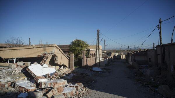 Разрушенные дома в сирийской провинции Эль-Хасаке