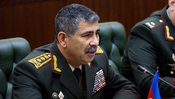 Министр обороны Азербайджана генерал-полковник Закир Гасанов. Архивное фото