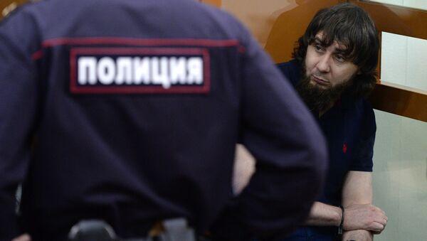 Заур Дадаев во время оглашения приговора в Московском окружном военном суде. 13 июля 2017