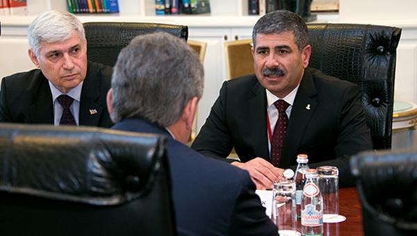 Mинистр обороны Азербайджана Закир Гасанов. Архивное фото