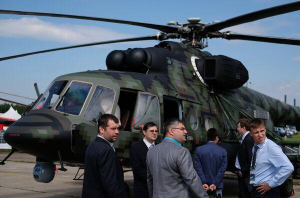 Посетители на Международном авиационно-космическом салоне МАКС-2017 в Жуковском. 18 июля 2017