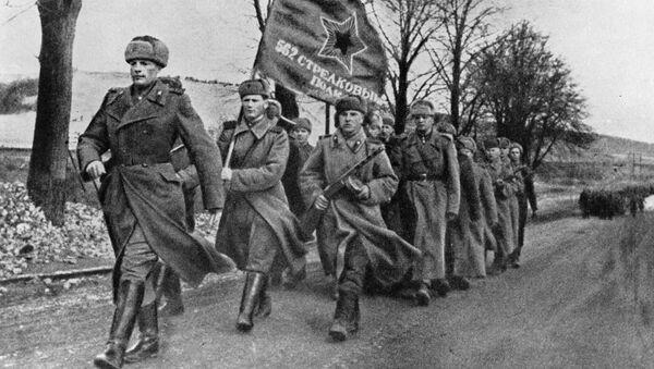 Советские войска на территории освобожденной Польши. Февраль 1945 года