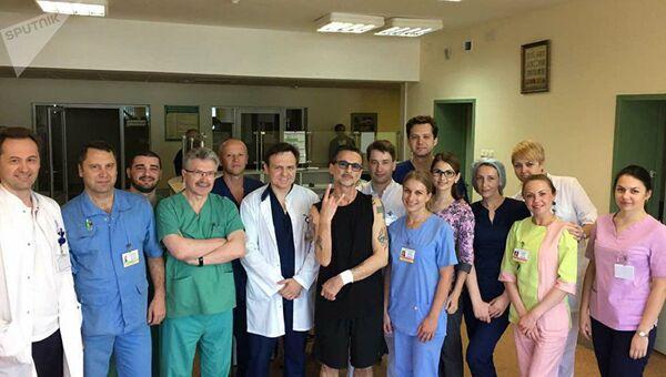 Дэйв Гаан в 9-й городской клинической больницы Минска