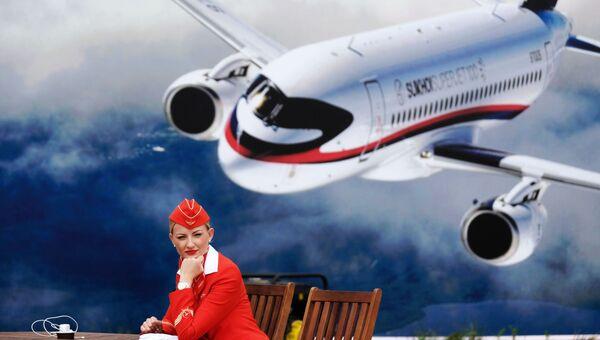 Стюардесса компании Аэрофлот. Архивное фото