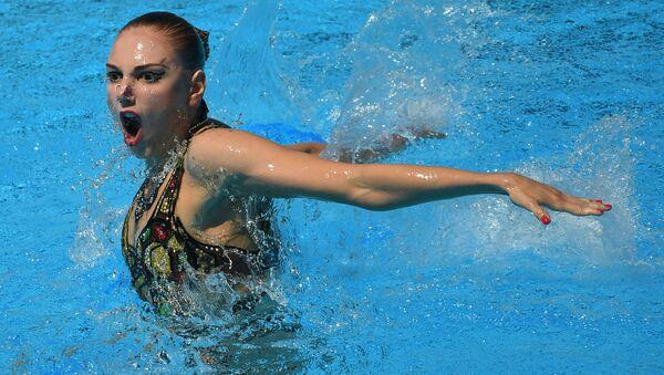 Светлана Колесниченко (Россия) в финале соревнований по синхронному плаванию на чемпионате мира FINA 2017