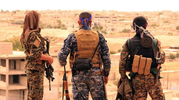 Бойцы СДС в Сирии
