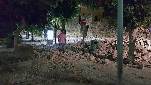 Последствия землетрясения на остров Кос в Греции. 21 июля 2017