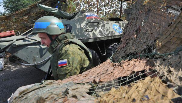 Российский миротворец на блокпосту в Молдавии. Архивное фото