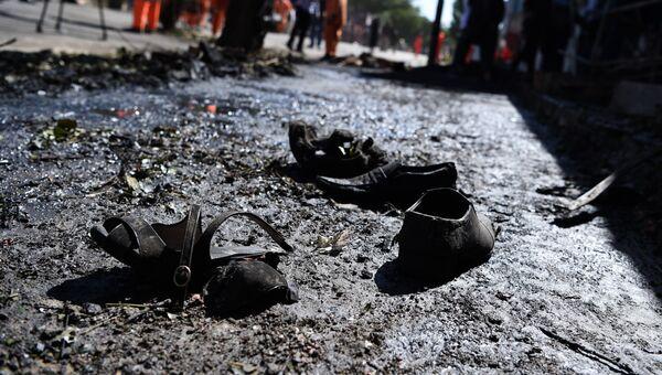 На месте взрыва. Архивное фото