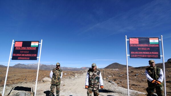 Индийские военные на границе Индии и Китая. Архивное фото