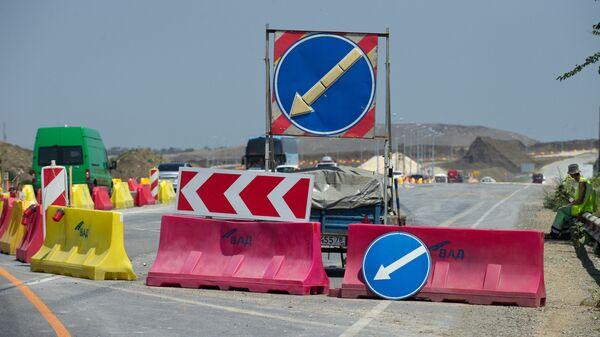 На строительстве участка трассы Таврида