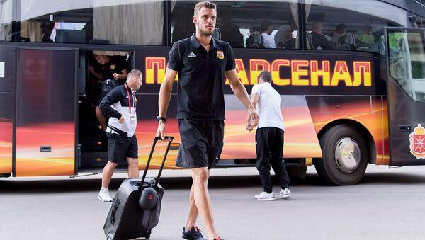 Игрок Арсенала Федерико Расич перед матчем против ФК СКА-Хабаровск в Туле