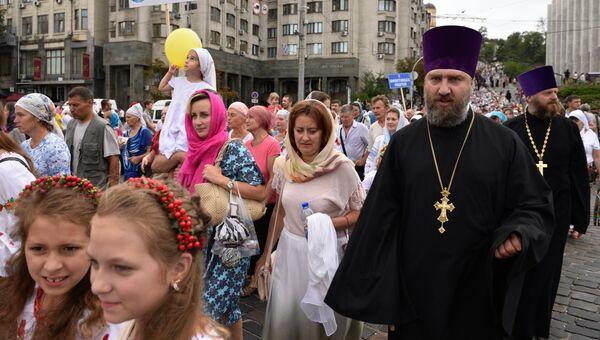 Крестный ход в Киеве. 27 июля 2017