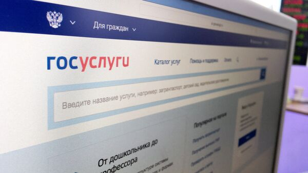 Официальный интернет-портал государственных услуг. Архивное фото