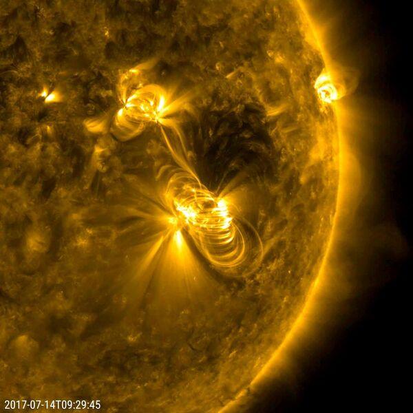 Солнечная вспышка и выброс корональной массы. 14 июля 2017