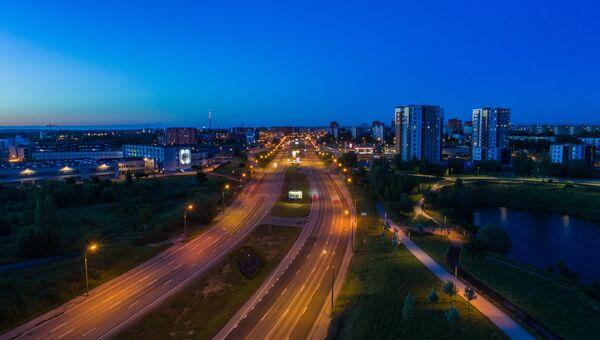 Автомобильная дорога в Таллине, Эстония. Архивное фото