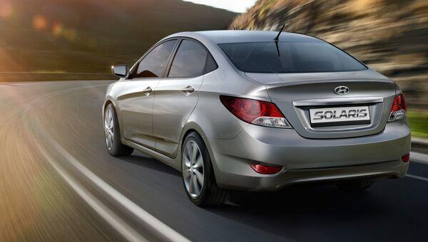 Автомобиль Hyundai Solaris. Архивное фото