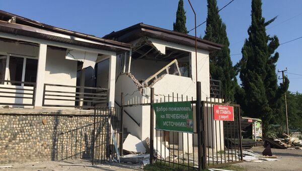 Последствия взрывов на складе вооружения в посёлке Приморский, Абхазия. 3 августа 2017
