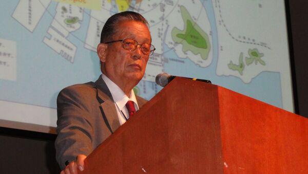 Садао Ямамото в Мемориальном музее Хиросимы