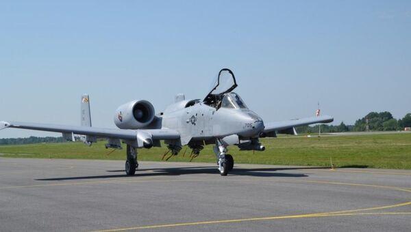Американский штурмовик А-10 в Эстонии. Архивное фото