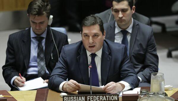 Заместитель постпреда РФ при ООН Владимир Сафронков. Архивное фото