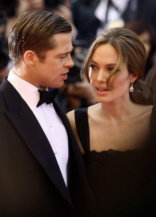 Анджелина Джоли и Бред Питт на 60-м Каннском кинофестивале
