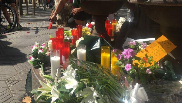 Во время мероприятия посвященного памяти жертв теракта в Барселоне. 18 августа 2017
