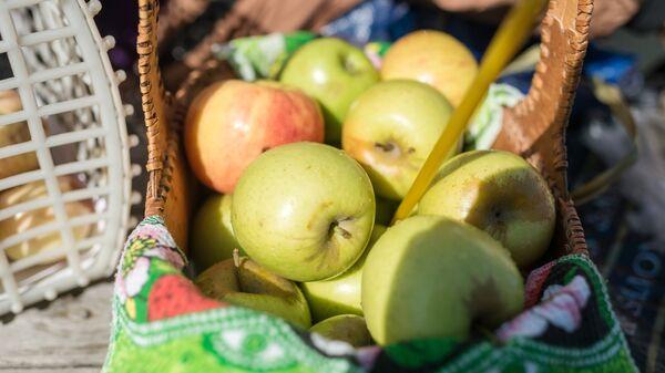 Яблоки, освященные во время богослужения в честь праздника Преображения Господня. Архивное фото