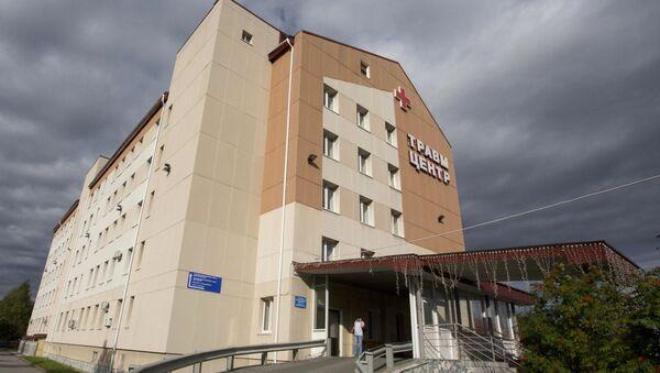 Здание Сургутской клинической травматологической больницы.  19 августа 2017