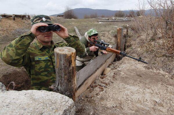 Наблюдательный пост миротворческих сил в Южной Осетии