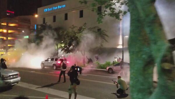 Крики людей и дым слезоточивого газа: протесты в американском Финиксе