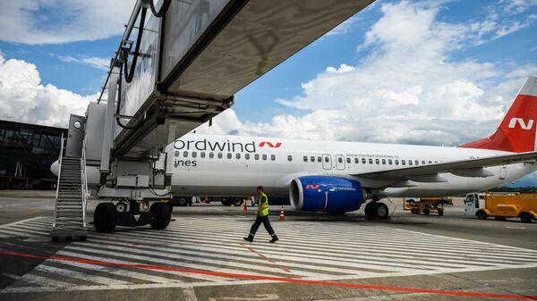Самолет Boeing 737 авиакомпании Nordwind Airlines