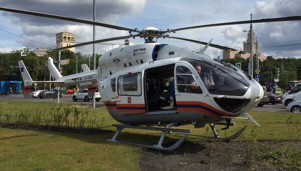 Санитарный вертолет. Архивное фото