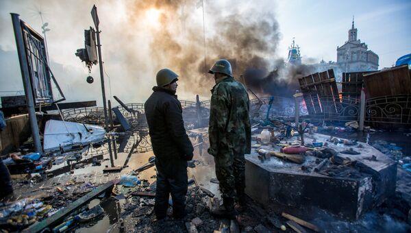 Сторонники евроинтеграции на площади Независимости в Киеве. Архивное фото
