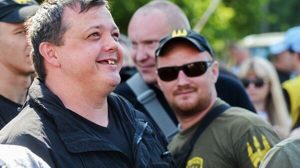 Семен Семенченко на митинге в Киеве
