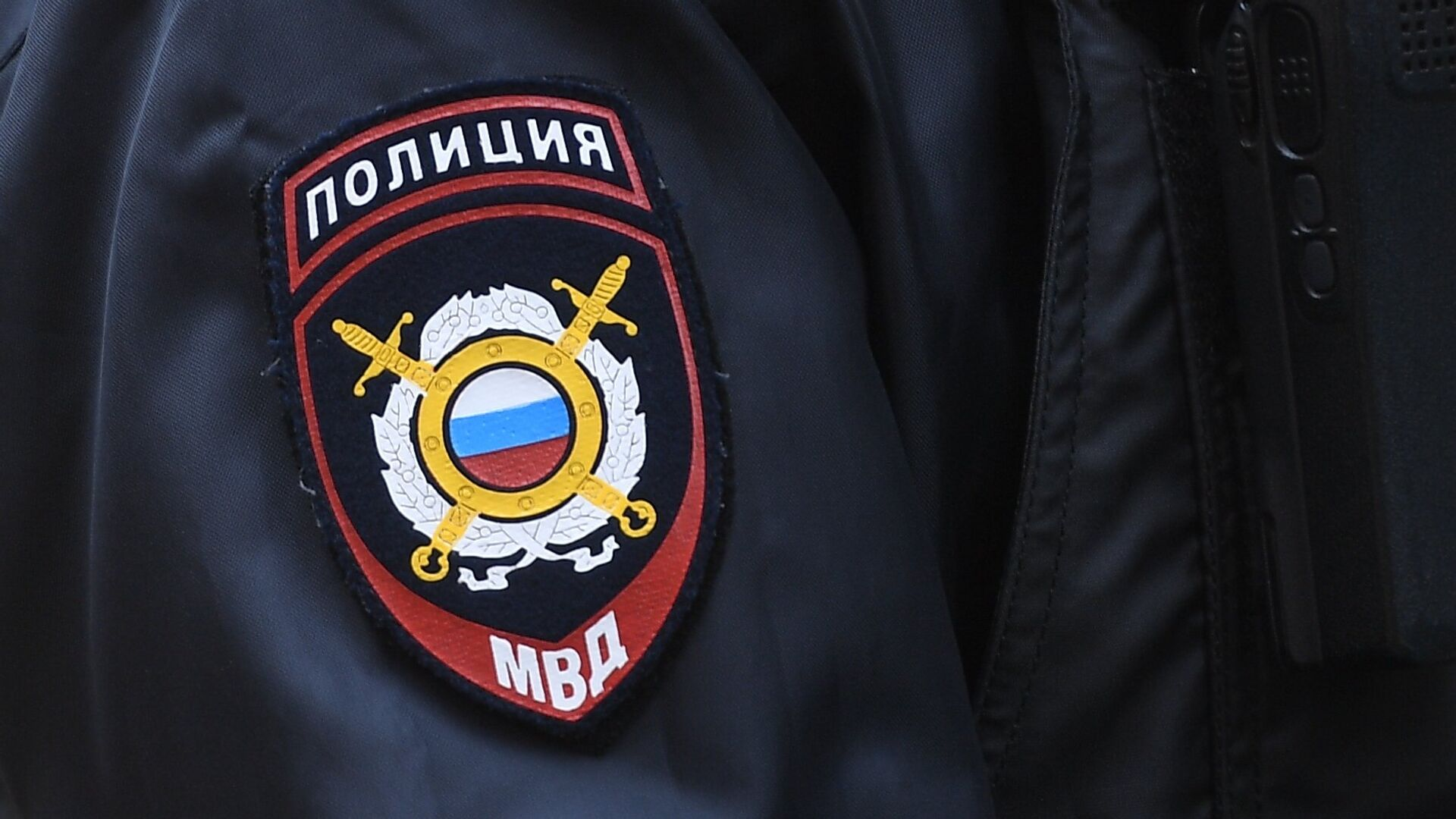 Нашивка на рукаве сотрудника полиции - РИА Новости, 1920, 28.11.2020