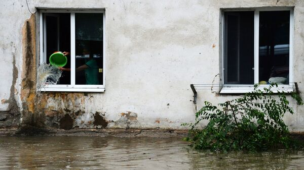 Подтопленный дом в Уссурийске