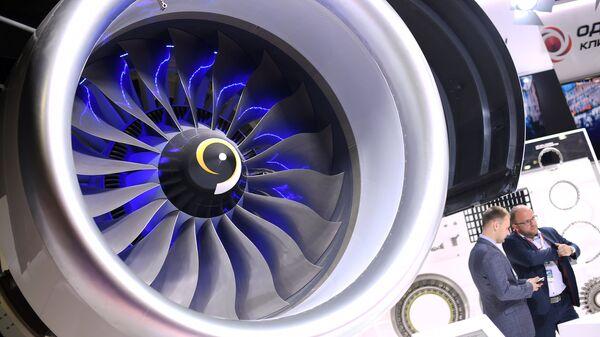 Авиационный двигатель на выставке МАКС-2017