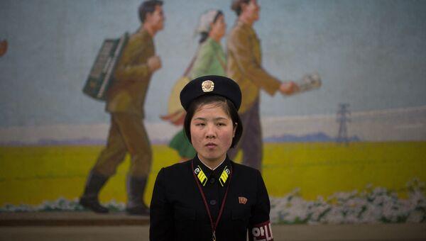 Сотрудница метрополитена Пхеньяна