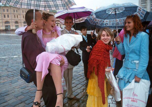 Выпускники на Красной площади