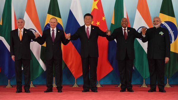 Президент РФ В. Путин принял участие во встрече лидеров БРИКС