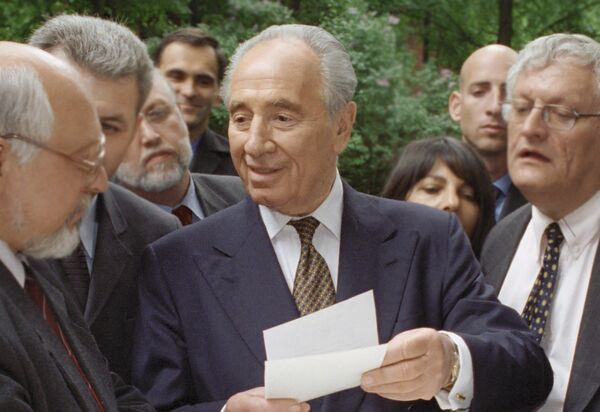 Министр иностранных дел Израиля Шимон Перес