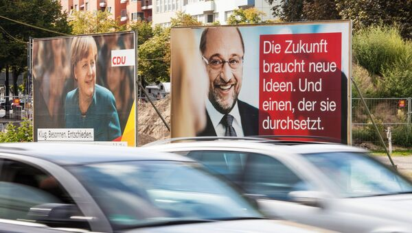 Предвыборная агитация на улицах Берлина