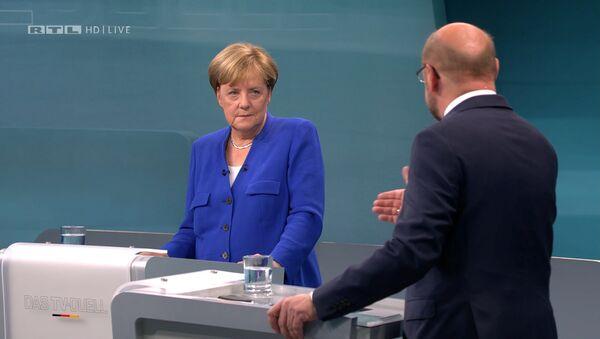 Телевизионные дебаты Ангелы Меркель и Мартина Шульца. 3 сентября 2017