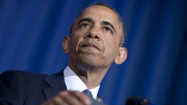 Президент США Барак Обама выступает с речью в университете национальной обороны США в Вашингтоне. 23 мая 2013