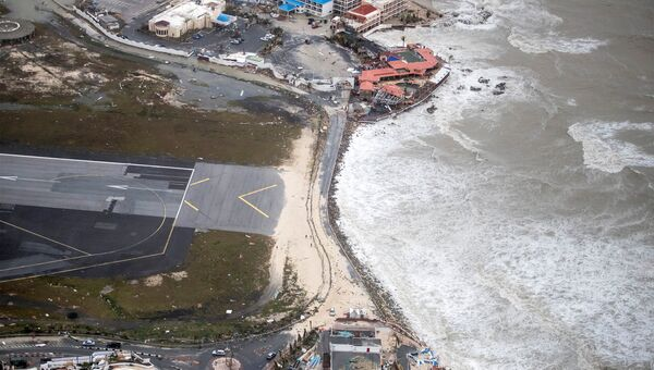 Последствия урагана Ирма на Голландской части острова Сен-Мартен. 7 сентября 2017